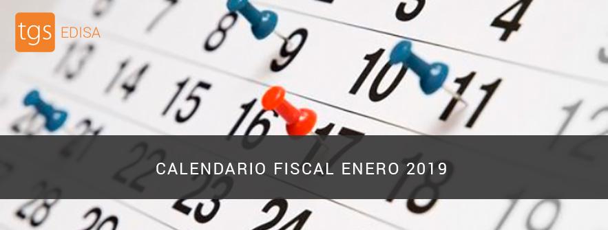 Calendario fiscal para enero del 2019